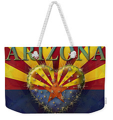 I Love Arizona Flag Weekender Tote Bag by James Larkin