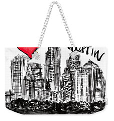 Weekender Tote Bag featuring the digital art I Love Austin by Sladjana Lazarevic