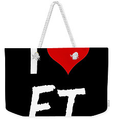 Weekender Tote Bag featuring the digital art I Love E.t. by Gina Dsgn
