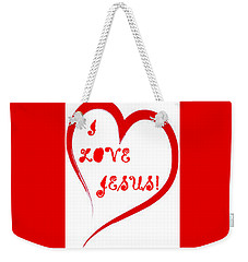 I Love Jesus Weekender Tote Bag