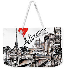 I Love Melbourne  Weekender Tote Bag