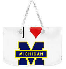 I Love Michigan Weekender Tote Bag