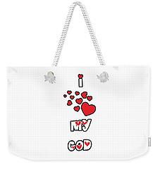 Weekender Tote Bag featuring the digital art I Love My God by Judy Hall-Folde