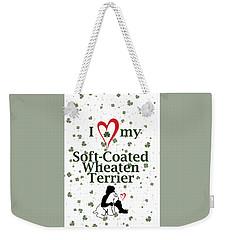 I Love My Wheaten Terrier Weekender Tote Bag