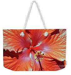 I Love Orange Flowers 2 Weekender Tote Bag by Lydia Holly