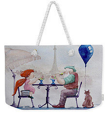 I Love Paris Grandpa Weekender Tote Bag by Geni Gorani
