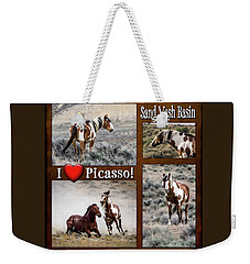 I Love Picasso Collage Weekender Tote Bag by Nadja Rider