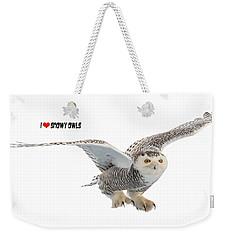 I Love Snowy Owls T-shirt Weekender Tote Bag