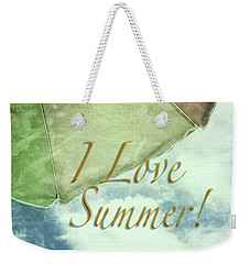 I Love Summer I Weekender Tote Bag by Marianne Campolongo