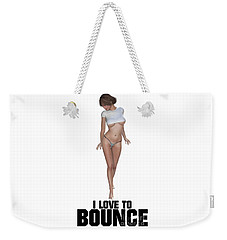 I Love To Bounce Weekender Tote Bag by Esoterica Art Agency