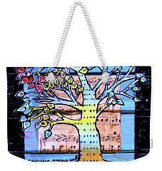 Weekender Tote Bag featuring the painting I Love Trees by Genevieve Esson