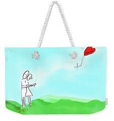 I Love Us Weekender Tote Bag by Haleh Mahbod