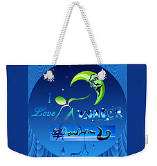 Weekender Tote Bag featuring the painting I Love Water  by Robert G Kernodle
