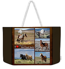 I Love Wild Horses Of Sand Wash Basin Weekender Tote Bag