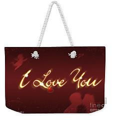 I Love You Greeting Card Weekender Tote Bag