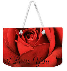Weekender Tote Bag featuring the photograph I Love You by Marna Edwards Flavell