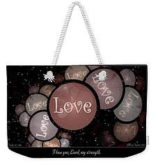 I Love You Weekender Tote Bag