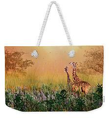 I Love You Mom Weekender Tote Bag by Diane Schuster