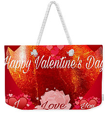 I Love You Valentine  Weekender Tote Bag