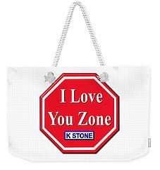 I Love You Zone Weekender Tote Bag