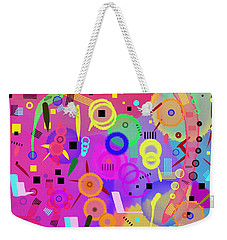 Weekender Tote Bag featuring the digital art I Once Was Happy by Silvia Ganora