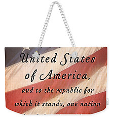 I Pledge Weekender Tote Bag