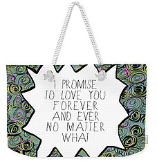 Weekender Tote Bag featuring the painting I Promise by Lisa Weedn