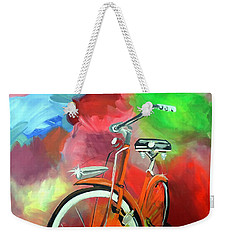 I Ride My Bike Weekender Tote Bag