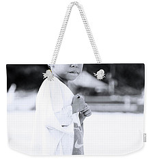 Weekender Tote Bag featuring the photograph I Rule The Beach by Jez C Self