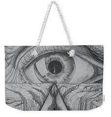 Weekender Tote Bag featuring the drawing I Shadow by Charles Bates