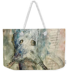 Weekender Tote Bag featuring the mixed media I Still Know You by Eleatta Diver