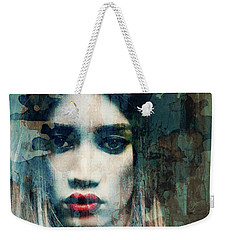 Weekender Tote Bag featuring the mixed media I Want To Know What Love Is  by Paul Lovering