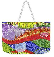 Weekender Tote Bag featuring the painting I Will Have You And You Will Have Me #2 by Kym Nicolas