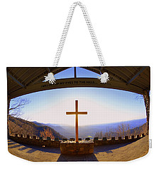 Weekender Tote Bag featuring the photograph I Will Lift My Eyes To The Hills Psalm 121 1 by Lisa Wooten