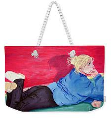 I Wonder? Weekender Tote Bag by Lisa Rose Musselwhite