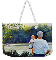 Ian And His Daddy One Sunday Afternoon Weekender Tote Bag