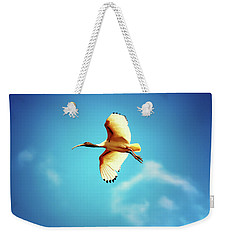 Ibis Of Light Weekender Tote Bag