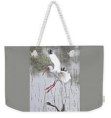 Ibis Soft Water Landing Weekender Tote Bag