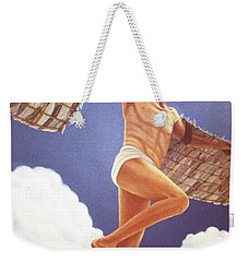 Weekender Tote Bag featuring the painting Icarus Ascending by Laurie Stewart
