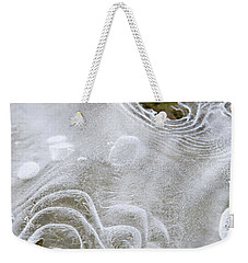 Weekender Tote Bag featuring the photograph Ice Abstract by Christina Rollo
