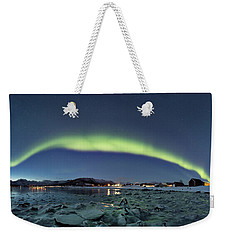 Ice And Northern Lights Weekender Tote Bag