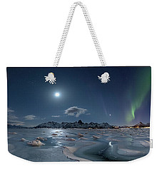 Ice And Northern Lights II Weekender Tote Bag