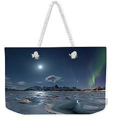 Ice And Northern Lights II Weekender Tote Bag