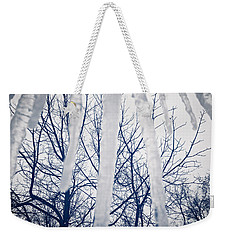 Weekender Tote Bag featuring the photograph Ice Bars by Robert Knight