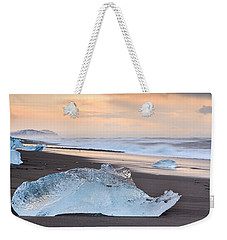 Ice Beach Weekender Tote Bag