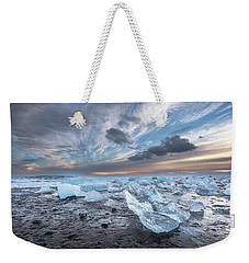 Ice Chunks Sunset 2 Weekender Tote Bag