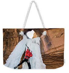 Ice Climber Weekender Tote Bag