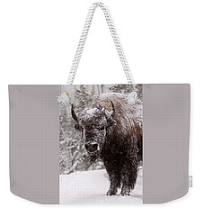Ice Cold Winter Buffalo Weekender Tote Bag