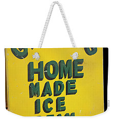 Weekender Tote Bag featuring the photograph Ice Cream Sign by Chris Flees