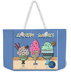 Ice-cream Sundaes Weekender Tote Bag